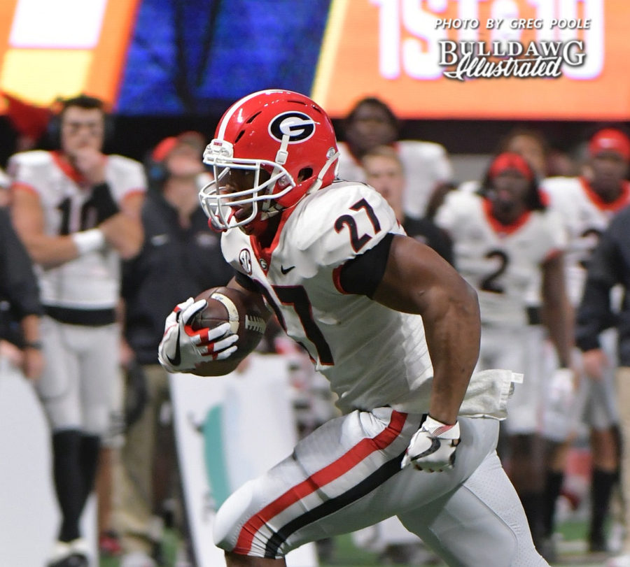 Nick Chubb - 2017 SEC Championship, Saturday, Dec. 2, 2017 -