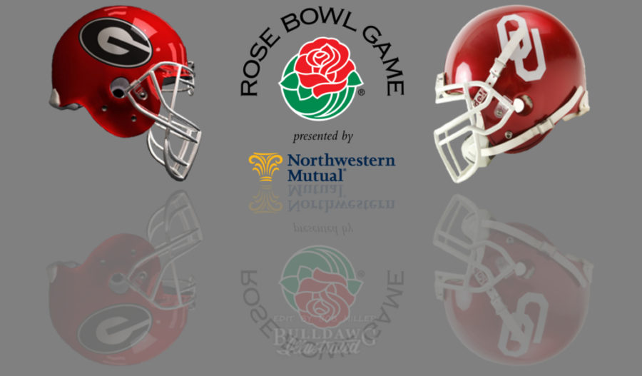 2017 Rose Bowl Game - Georgia vs. Oklahoma helmet edit by Bob Miller