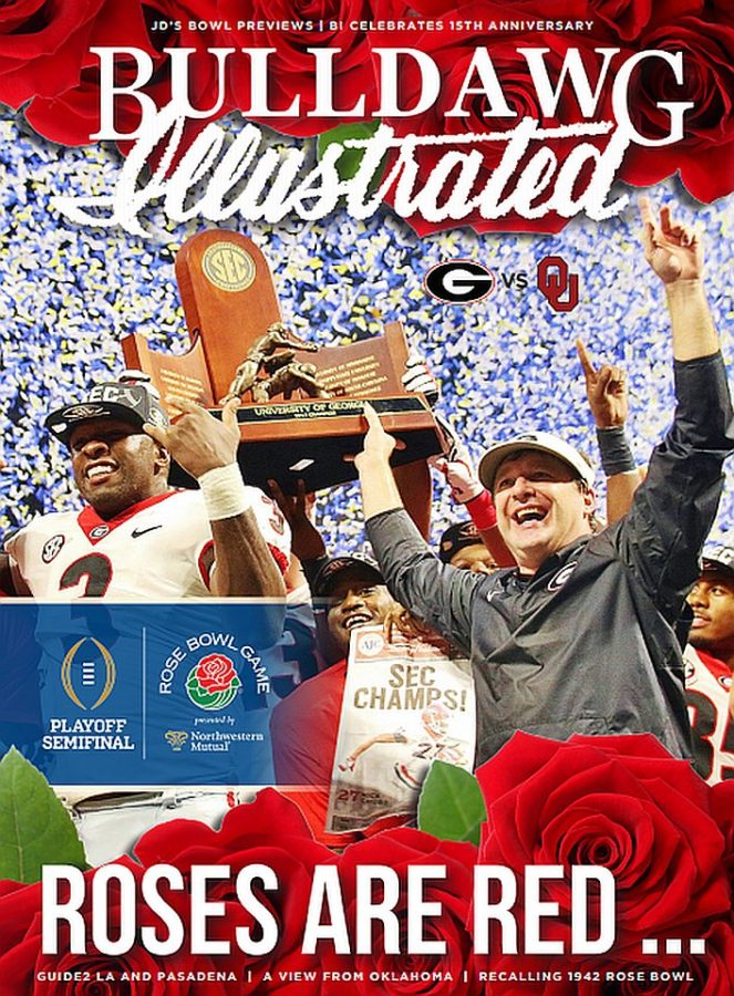Bulldawg Illustrated cover for 2017, Vol 15, Issue 16 Roses Are Red
