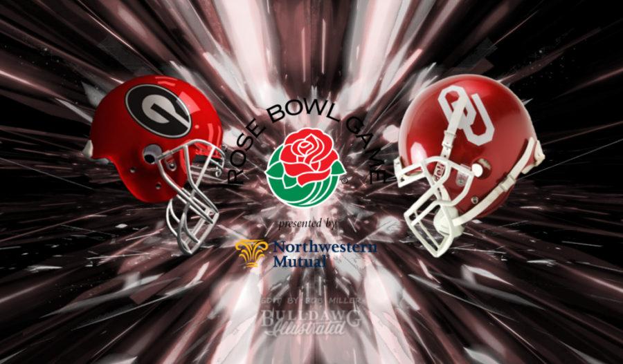 2017 Rose Bowl Game - Georgia vs. Oklahoma helmet edit 002 by Bob Miller