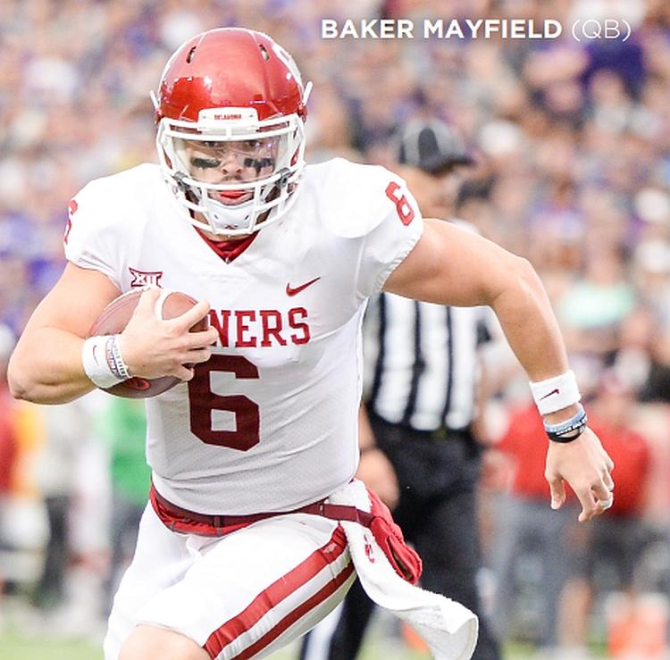 Baker Mayfield - Oklahoma QB (Photo  by Josh Gateley / OU Athletics)