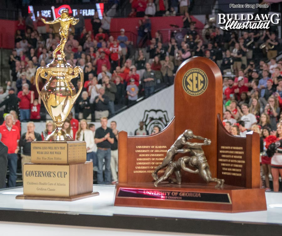 The Governor's Cup and SEC Championship Trophy are back in Athens