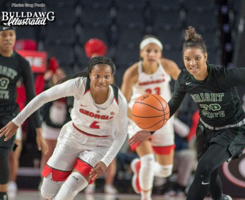 Georgia's Gabby Connally (2) - UGA women's basketball game vs. Wright State -