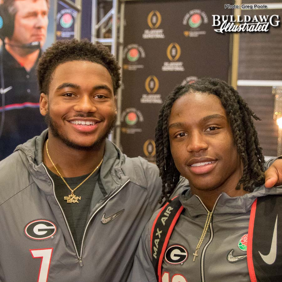 D'Andre Swift (left) and Ahkil Crumpton (right)
