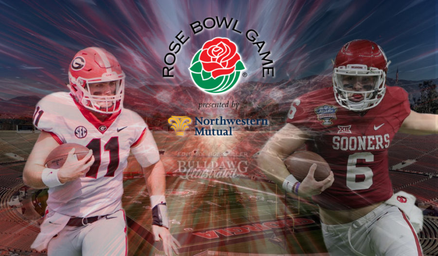Georgia's Jake Fromm vs Oklahoma's Baker Mayfield Rose Bowl 2018 game day edit by Bob Miller