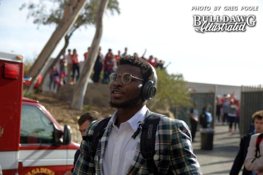 Lorenzo Carter - Rose Bowl game Dawg Walk, Monday, Jan. 1, 2018 -