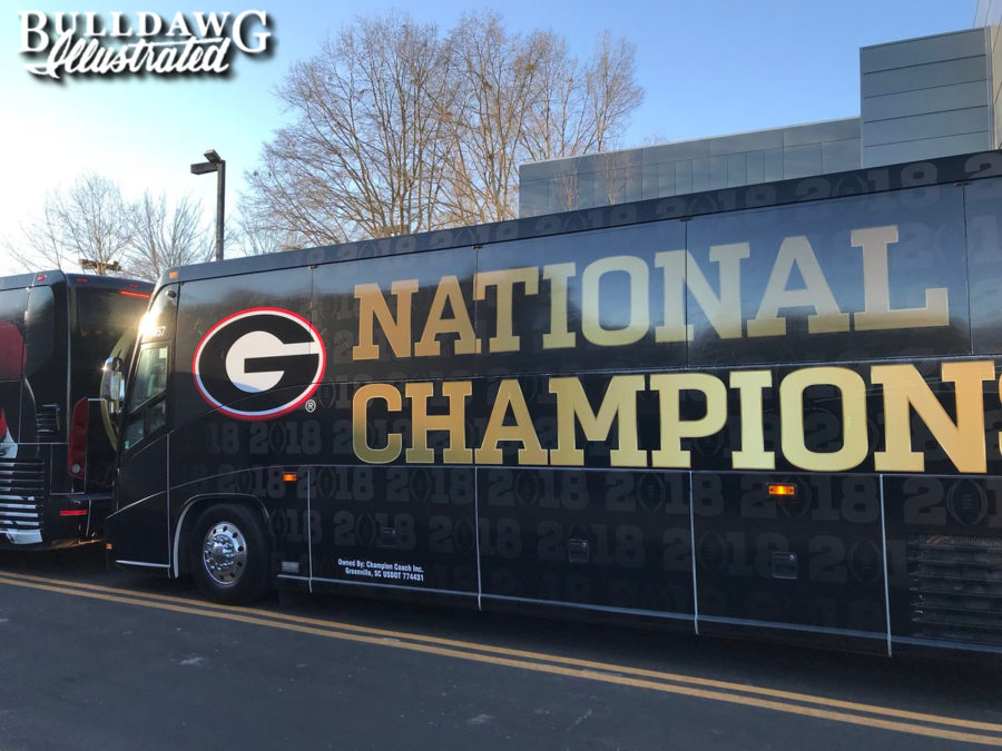 The National Champion Georgia Bulldogs sure does have a nice ring to it, does it not? (Photo by Bulldawg Illustrated)