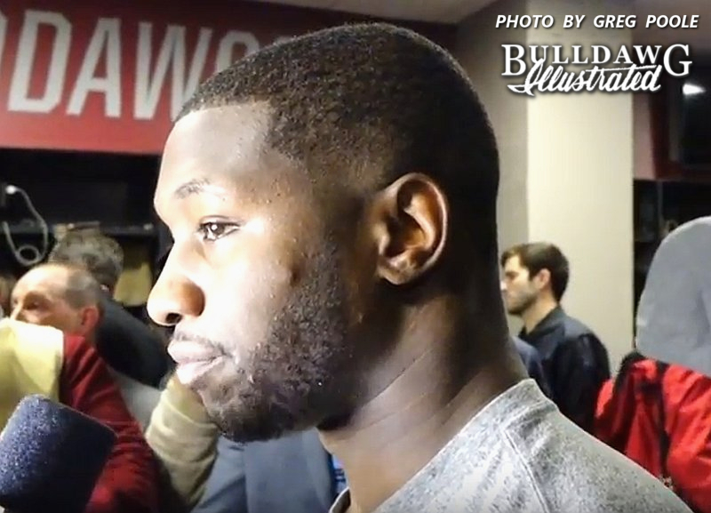 Roquan Smith during his National Championship post-game interview, 2018-Jan-08