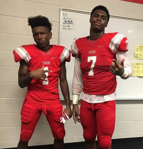 Braylen Weems (1) and Colby Wooden (7) - Class of 2019, Archer High School - (photo from Colby Wooden / Twitter)