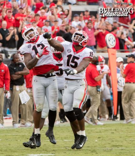 Jonathan Ledbetter and D'Andre Walker (15) – 2017 season rewind – Georgia vs. Florida