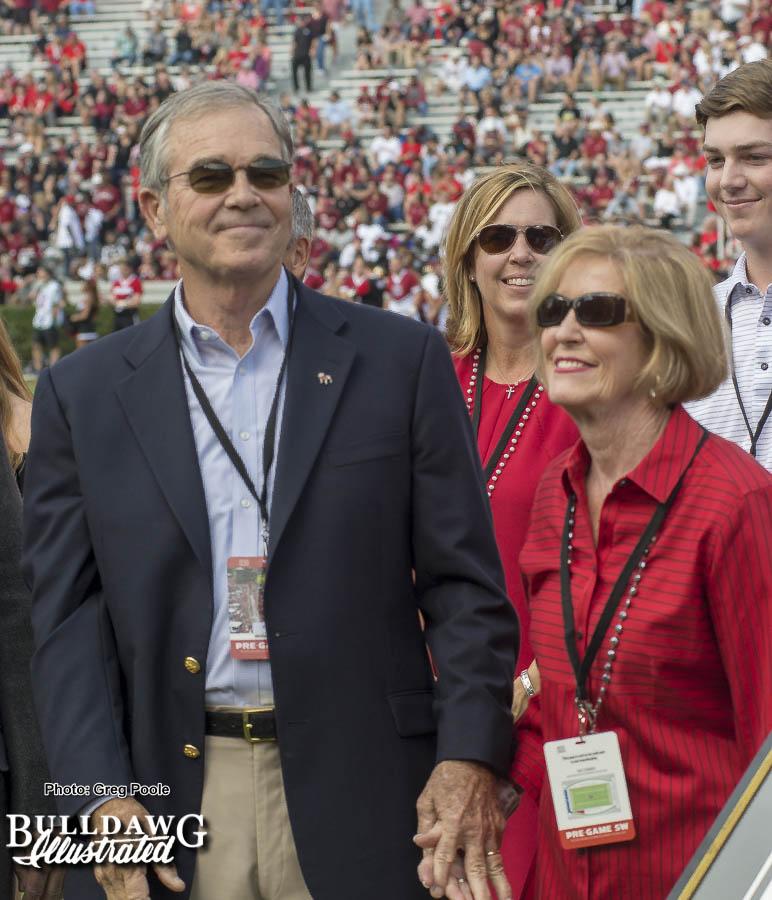 Former UGA football player and Masters chairman Billy Payne – Georgia vs. South Carolina – 2017 Season Rewind