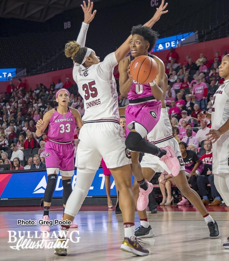 Taja Cole – Georgia vs. South Carolina – February 15, 2018