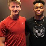 Max Johnson and Justin Fields. Photo by @qbmjohnson2020