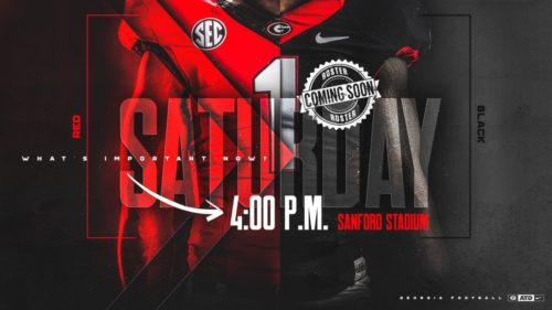 G-Day 2018 Edit photo courtesy of Georgia Football Twitter @FootballUGA