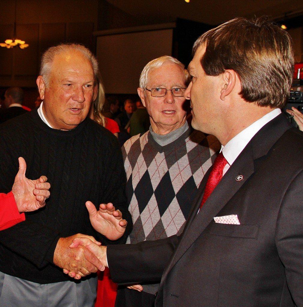 Jim Donnan congratulates Kirby - Kirby Smart Presser