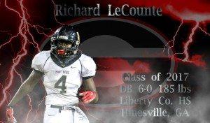 Richard LeCounte III (Graphic edit by Bob Miller)