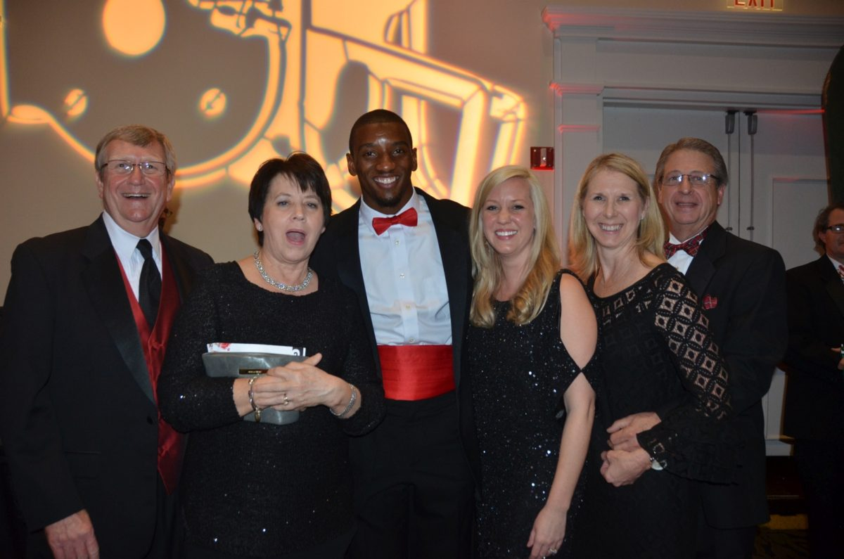 Ronnie Deal, Susan Deal, Malcolm Mitchell, Keller Kean, Teresa Bailey and David Bailey - UGA Senior GALA 2015 - (Photo by Cheri Leavy)
