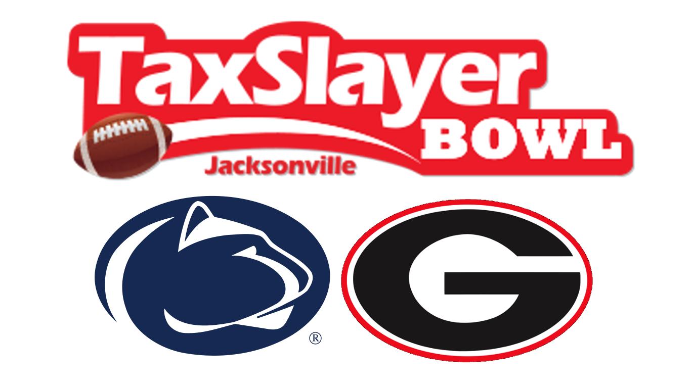 Game graphic - TaxSlayer Bowl 2015 - Penn State vs UGA