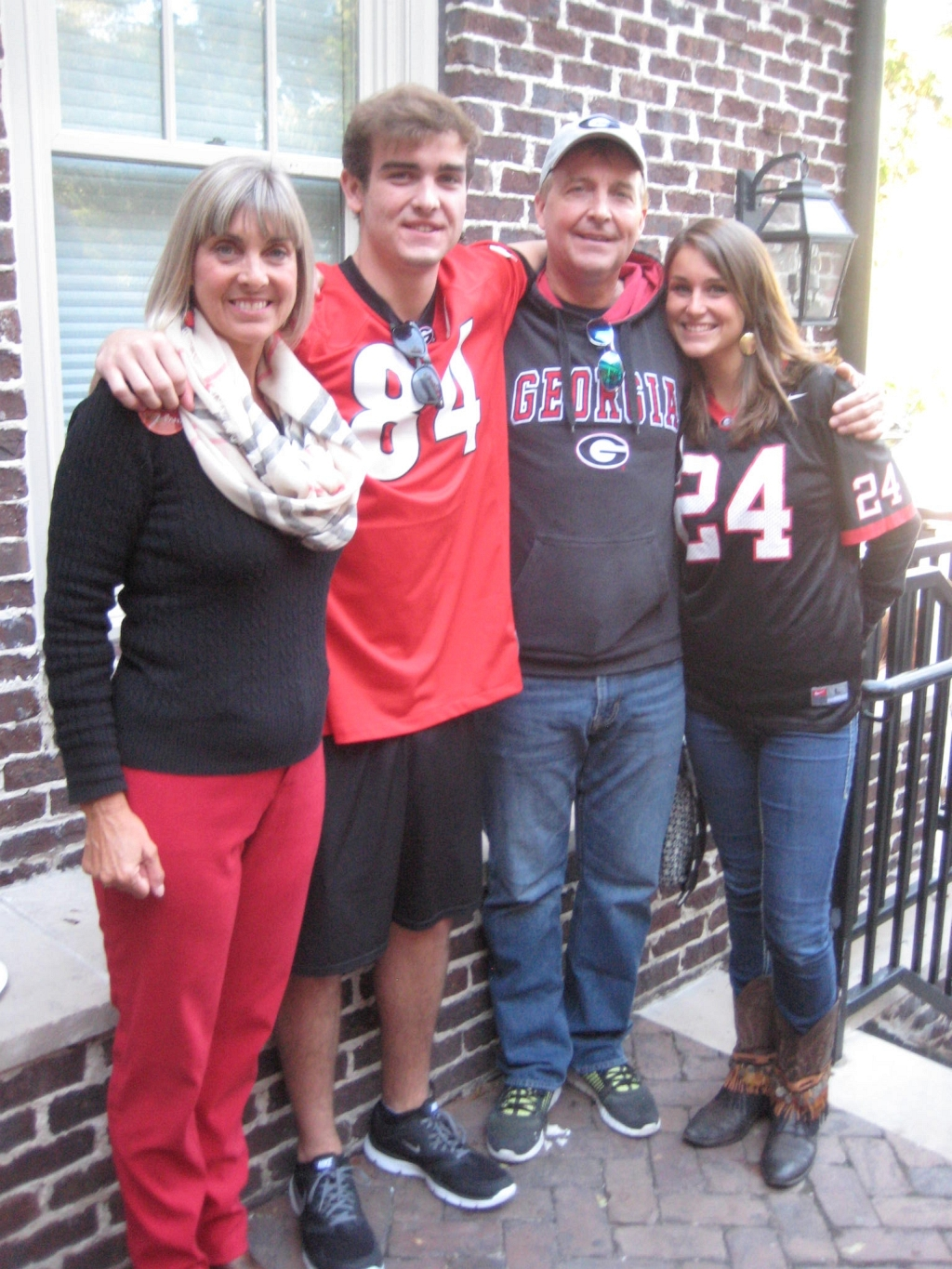 Lauriel, Jack, Arthur and Diana Marchesini - Mizzou vs. UGA - 17-Oct-2015 (Photo by Bulldawg Illustrated's Cheri and Vance Leavy)
