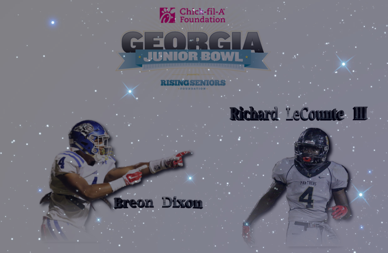 UGA class of 2017 commitments Breon Dixon and Richard LeCounte III (edit by Bob Miller)