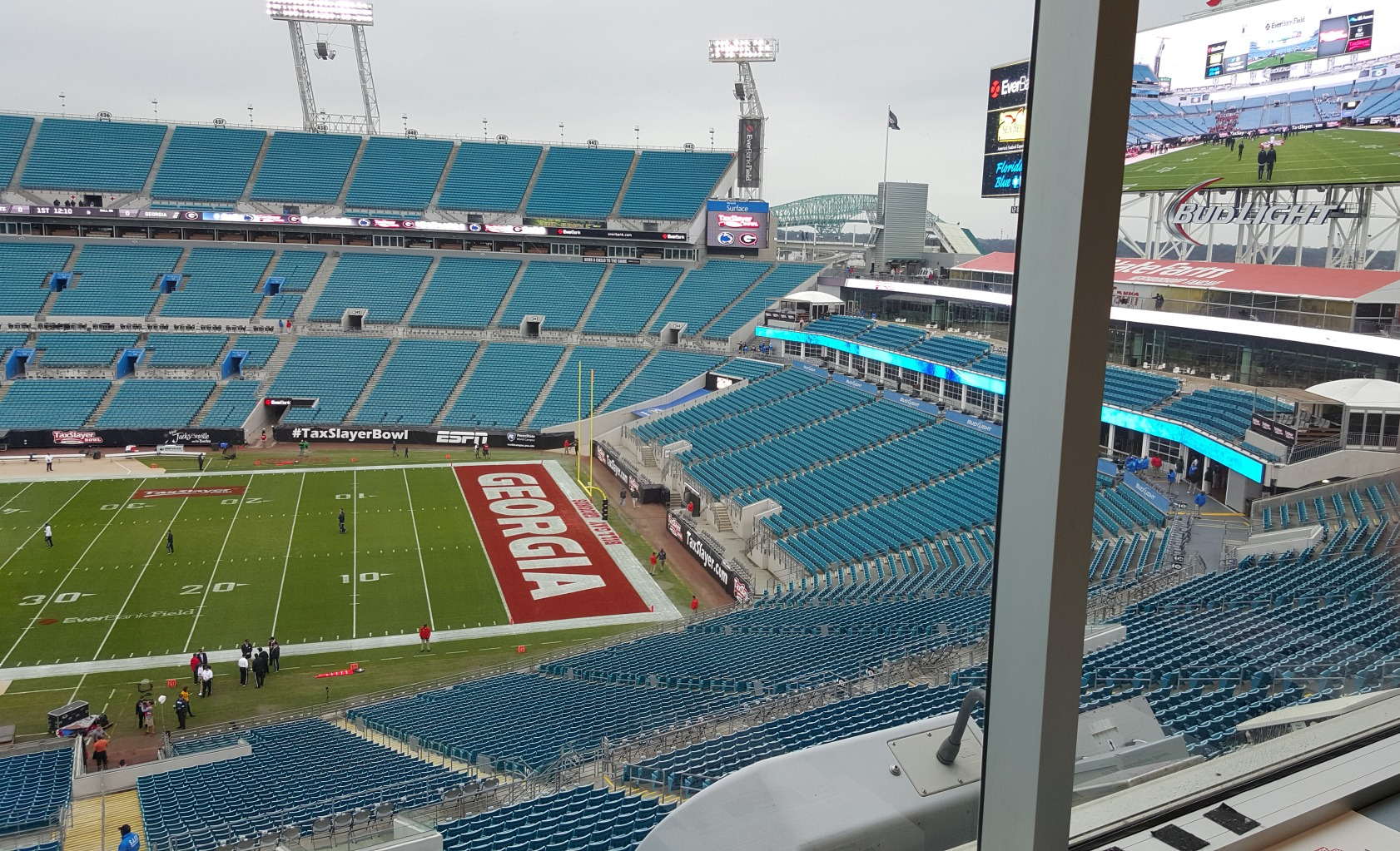 From the Press Box at Everbank Field - TaxSlayer Bowl - 02-JAN-2015 (Photo by Murray Poole)