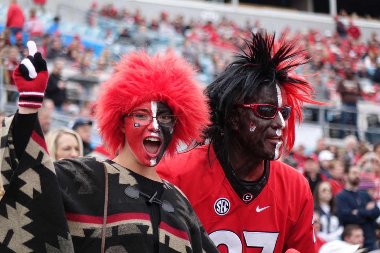 Georgia fans in Jacksonville, FL for TaxSlayer Bowl - UGA vs. Penn State 02-JAN-2016 (Photo by Greg Poole)