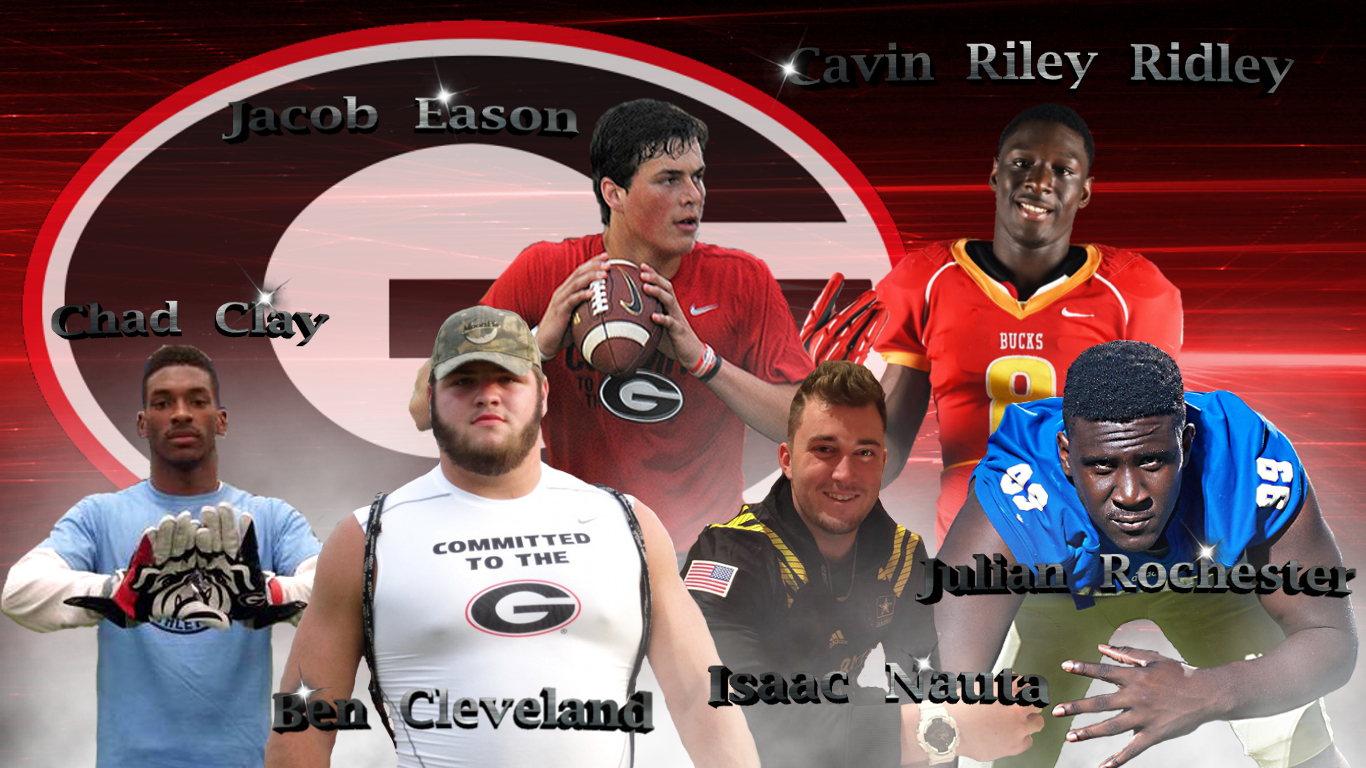UGA football - Recruiting Class of 2016 Early Enrollees (Edit by Bob Miller