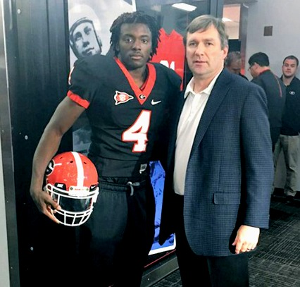 Richard LeCounte and Kirby Smart