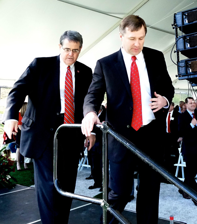 Pres. Morehead and Kirby Smart Photo: Greg Poole/Bulldawg Illustrated