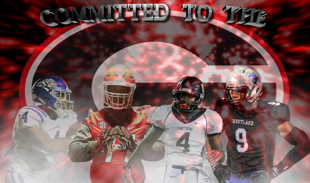 (left to right) Breon Dixon, Justin Shaffer, Richard LeCounte III and Jaden Hunter (edit by Bob Miller)