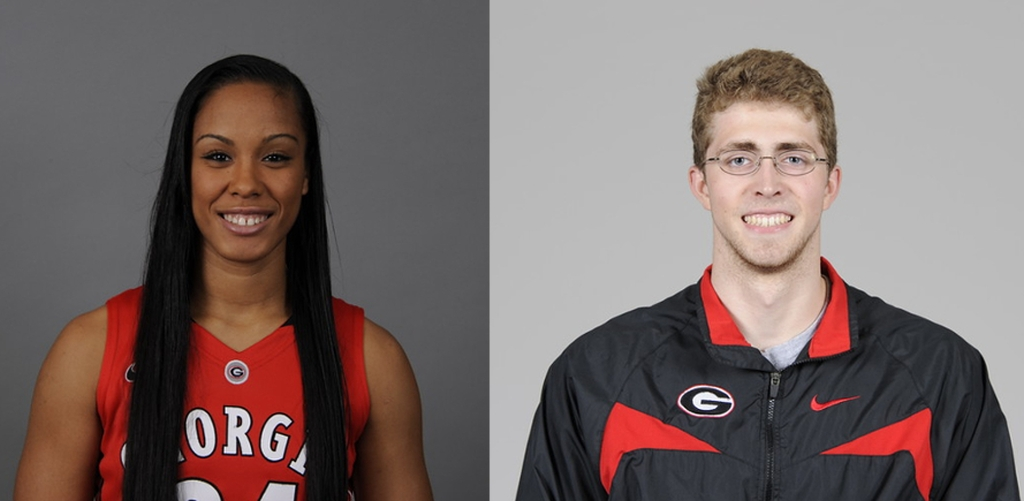 Marjorie Butler (on left) and Ty Stewart (on right) (photos provided by UGA)