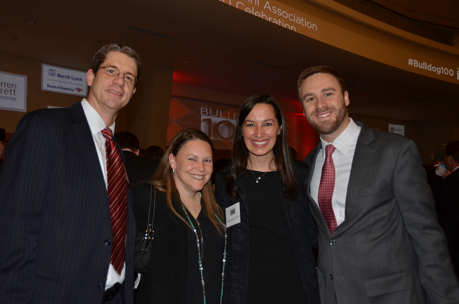 Scott and Connie Mondore with Brooke and Josh Harwell - 2016 Bulldog 100 - (Photo by Bulldawg Illustrated)