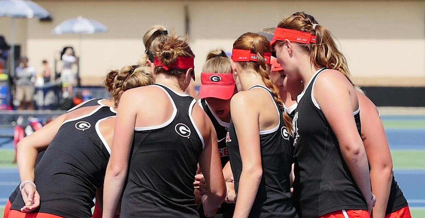 Uga-womens-tennis-team-2016-sec-tennis-tournament-finals-photo-screen-capture-of-uga-video