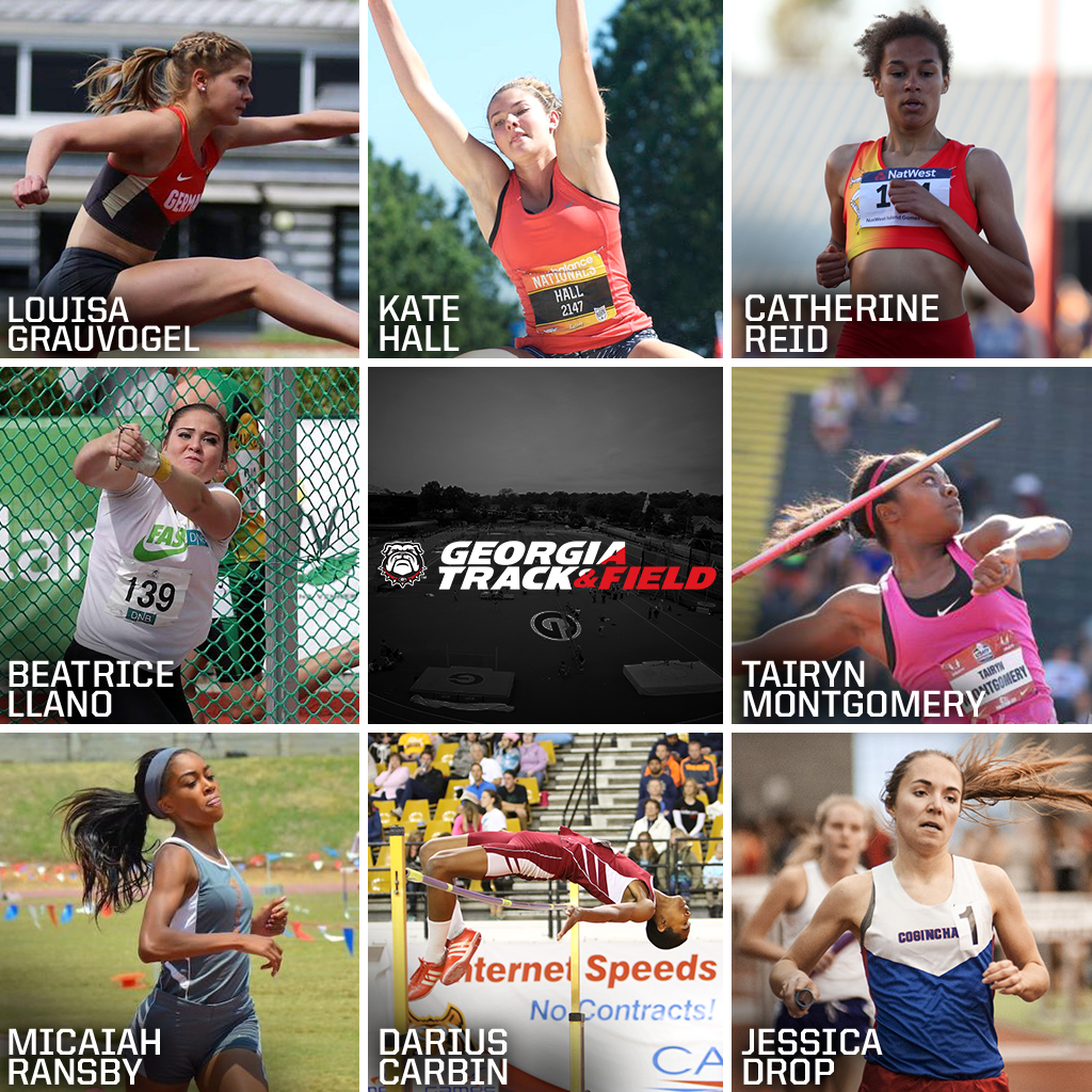 Top 8 Georgia Track and Field Signees (photo courtesy of UGA)