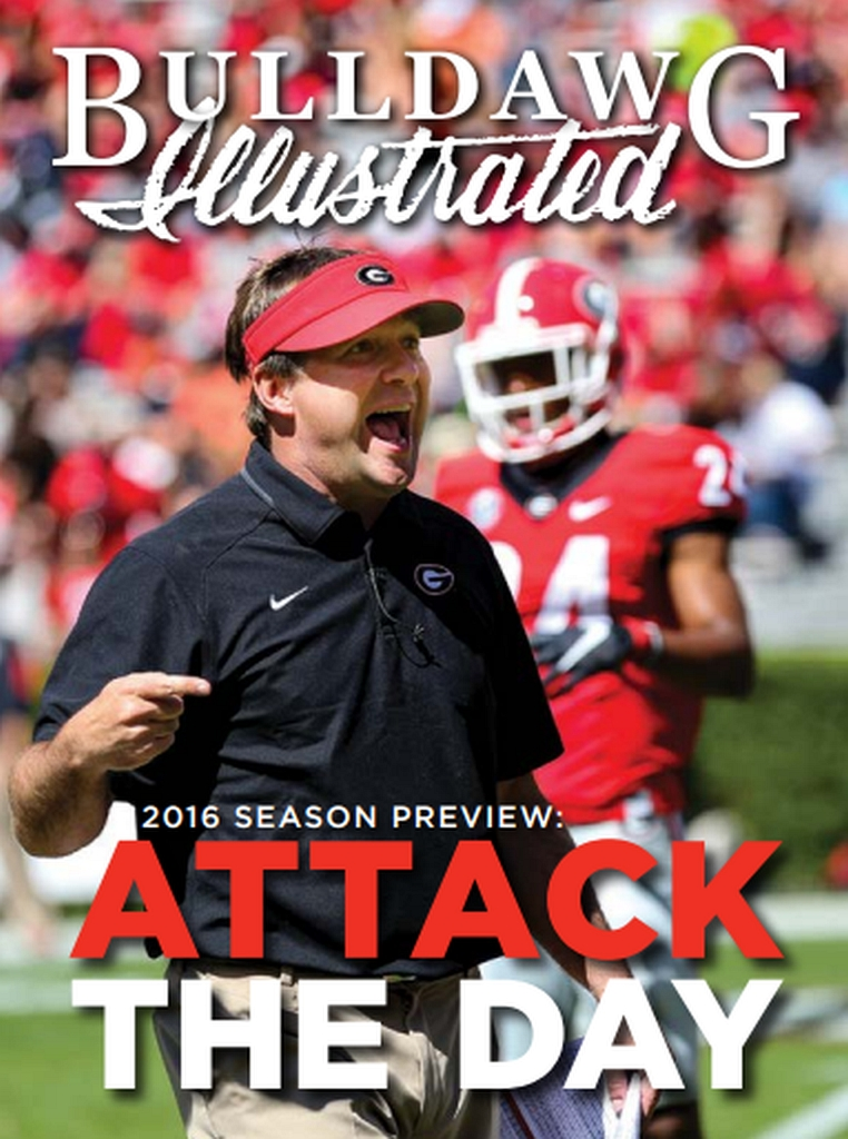Georgia Head Coach, Kirby Smart, 2016 G-Day spring game (Cover photo by Blane Marable)