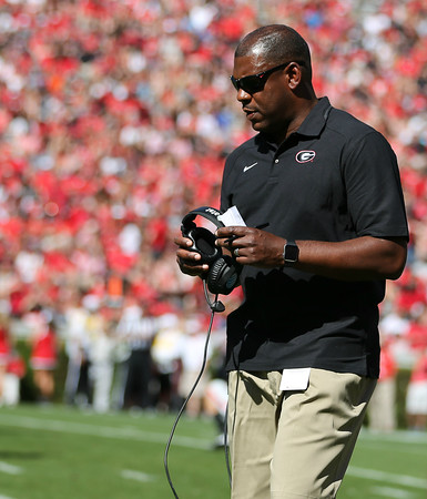 Georgia Defensive Coordinator, Coach Mel Tucker - G-Day 2016 (Photo by Chris Collins)