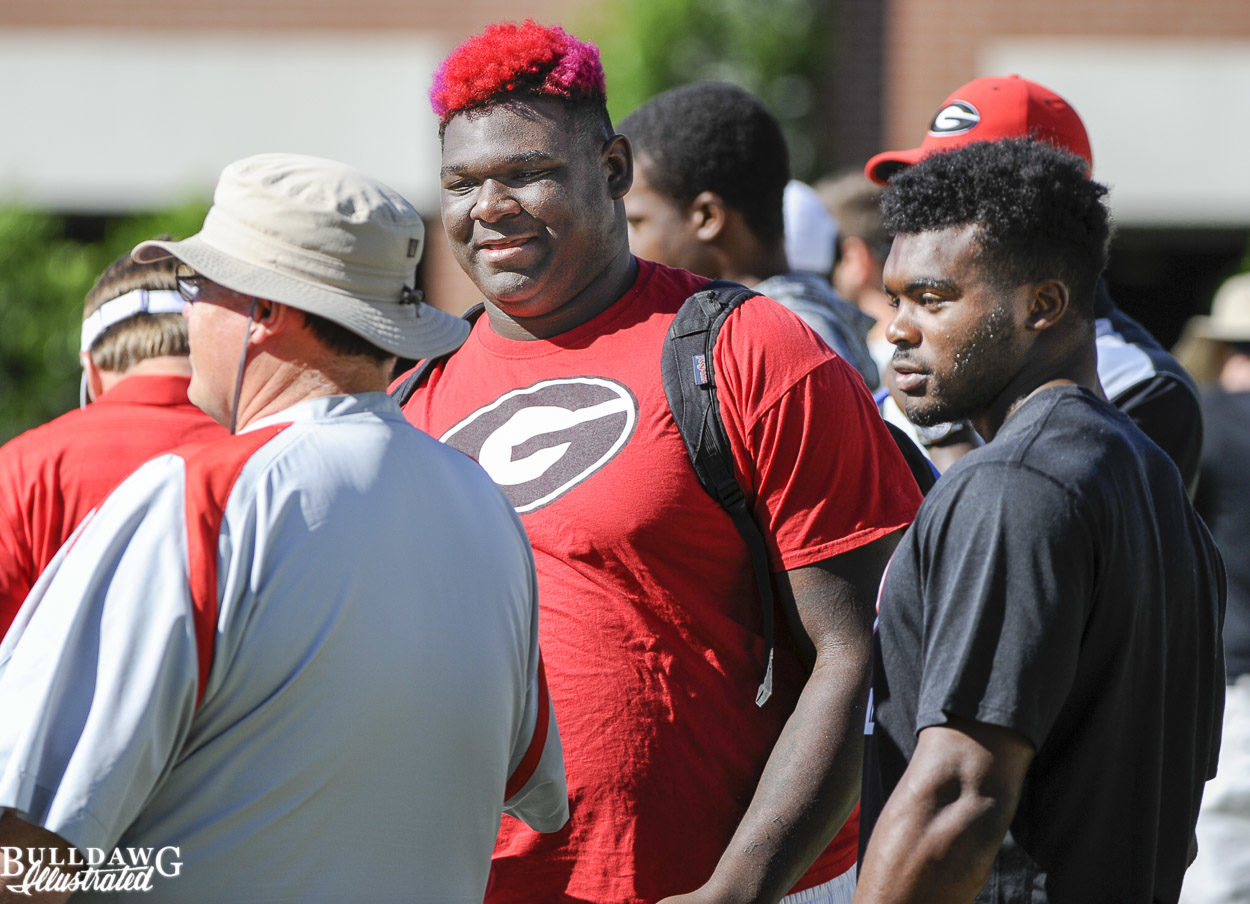 Jim Chaney, Netori Johnson and Elijah Holyfield