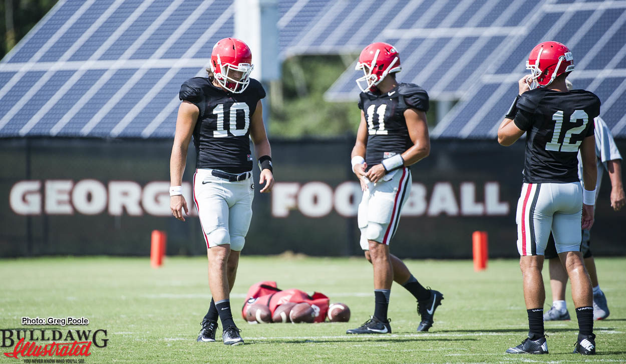Jacob Eason (10), Greyson Lambert (11) and Brice Ramsey (12)