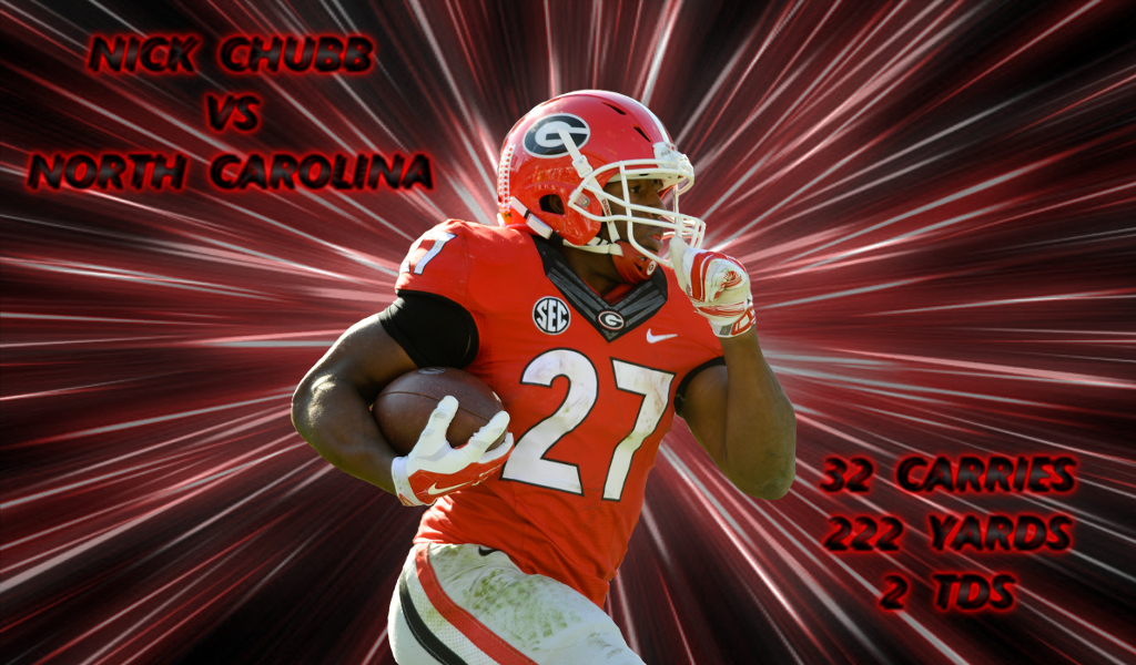 Nick Chubb vs UNC 2016 edit by Bob Miller