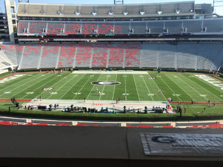 A view from the press box.