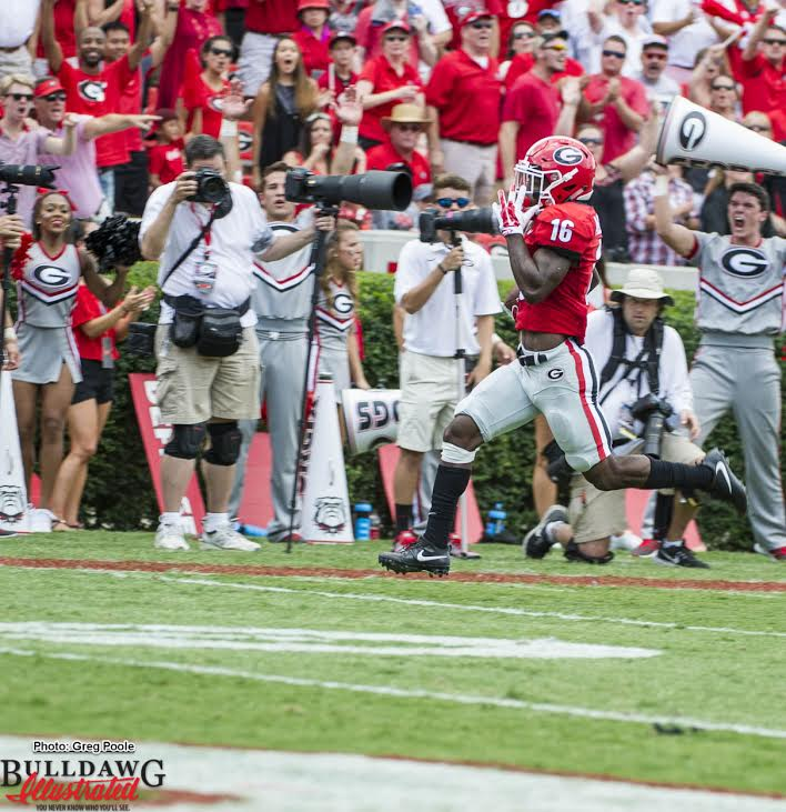 There goes Isaiah McKenzie (16) and... he gone