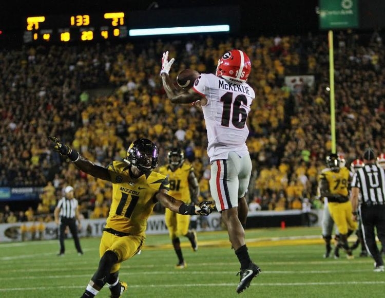 Isaiah McKenzie's game winning 20 yard TD reception (photo by Rob Saye)
