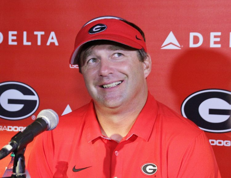 Kirby Smart post Missouri game presser (photo by Rob Saye)