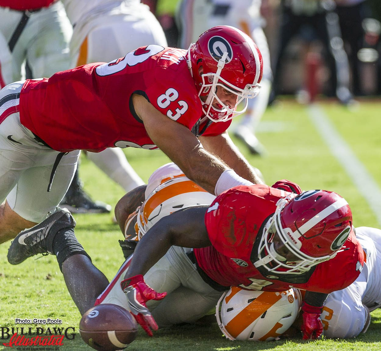 The ball gets away from Sony Michel