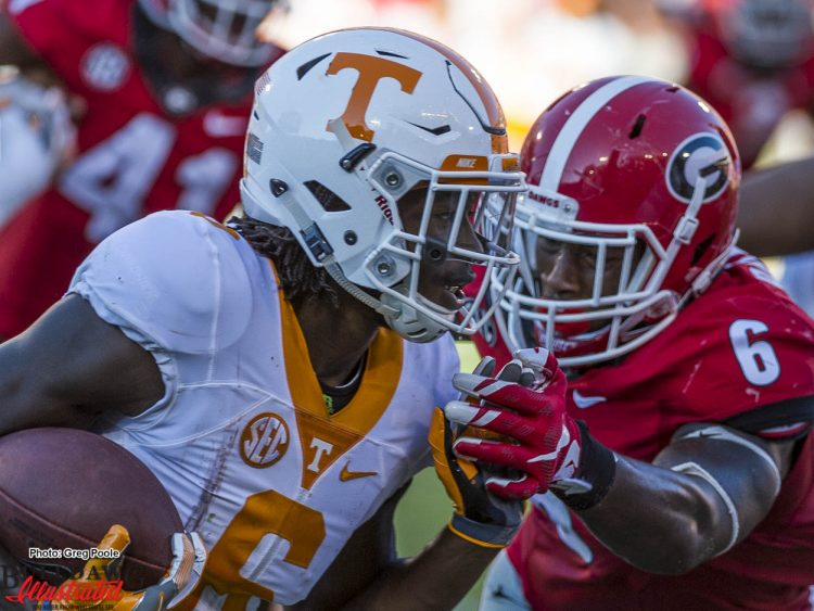 Natrez Patrick closes in for the tackle