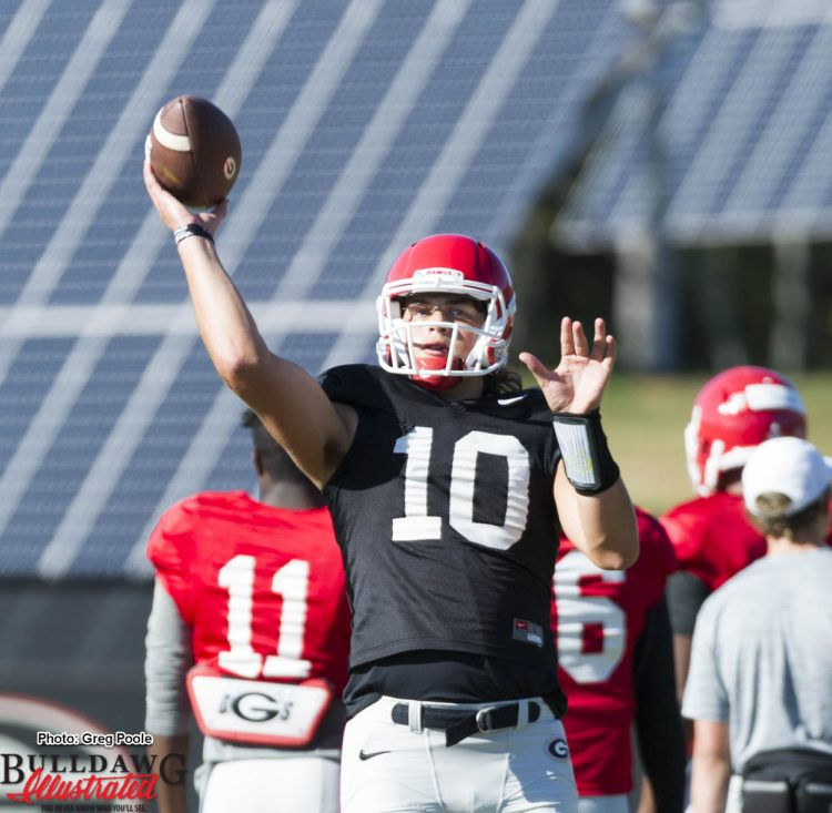 Jacob Eason releases a pass  October 12, 2016
