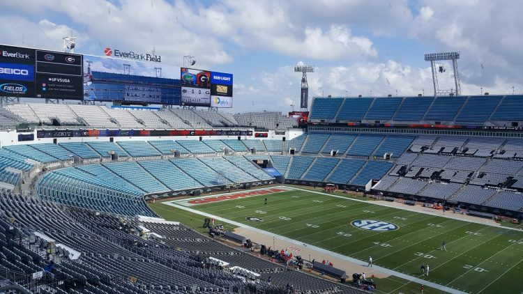 From the Press Box at EverBank Field for Georgia-Florida 29-Oct-2016 (photo by Murray Poole/Bulldawg Illustrated)