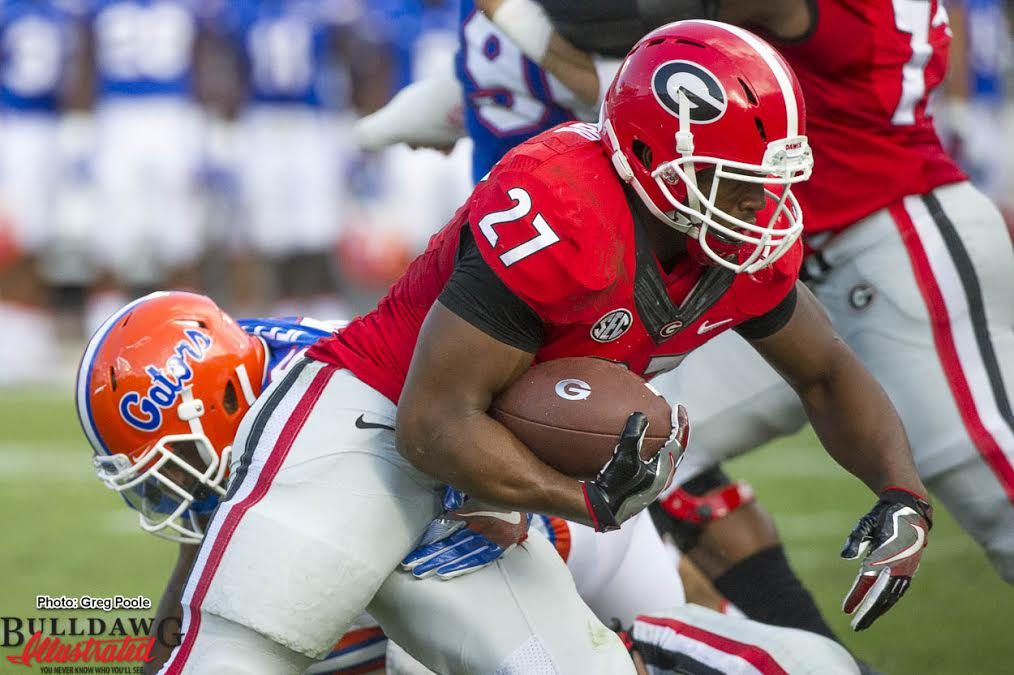 Nick Chubb (27) - Georgia-Florida 29-Oct-2016