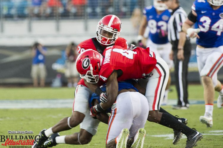 Mecole Hardman , Jr. (4) assisting on a tackle