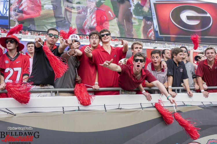Georgia fans dressed in red and black for the 95th WLOCP